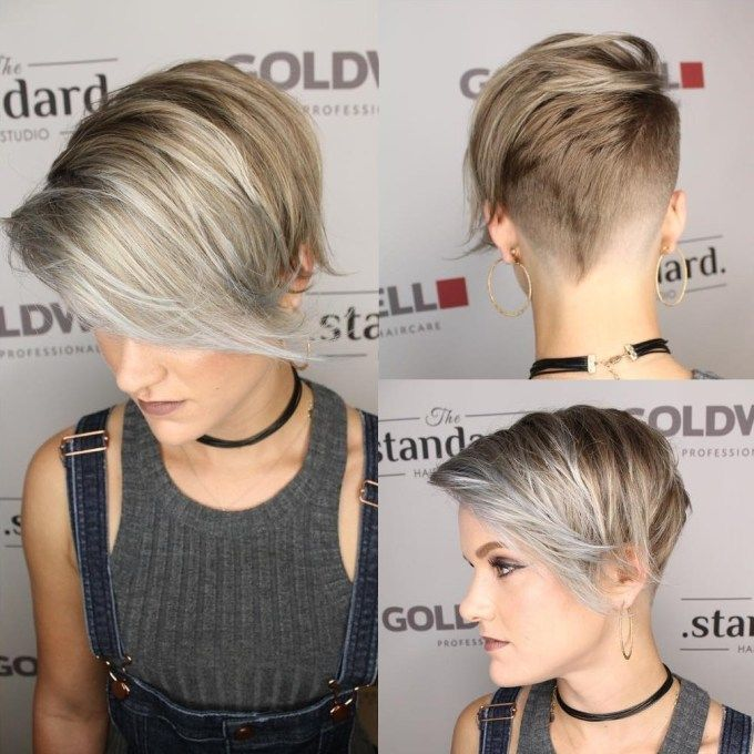 Asymmetrical Half Shaved Pixie