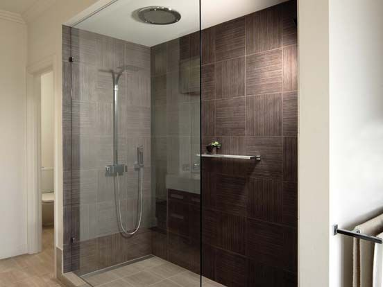 Framesless open shower screen