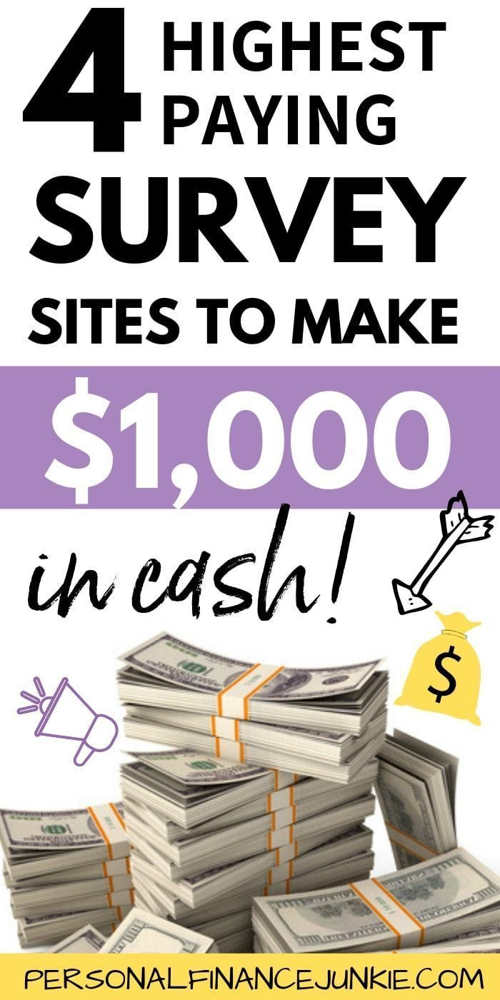 4 Best Survey Sites That Actually Pay Cash (Up To $50 Per Survey) – Extra Income Sites That Pay!