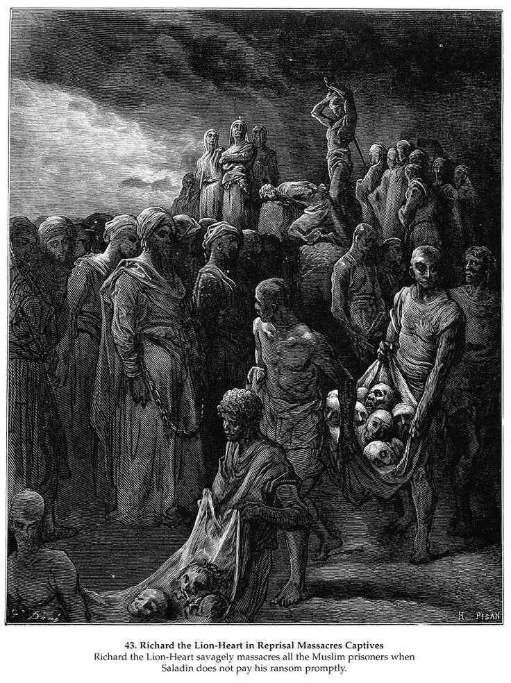 Richard the Lion-Heart in Reprisal Massacres Captives - Gustave Dore