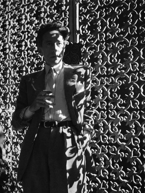 Jean Cocteau, 1947, photo by Raymond Voinquel.