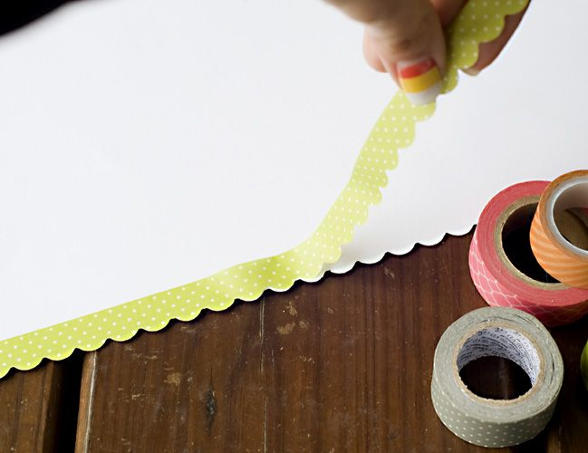 Using punches with washi tape. Why didn't I think of this? Border Punches with Decorative Tape:: A Scrapbook Tutorial by Tegan Skwiat @ shimelle.com