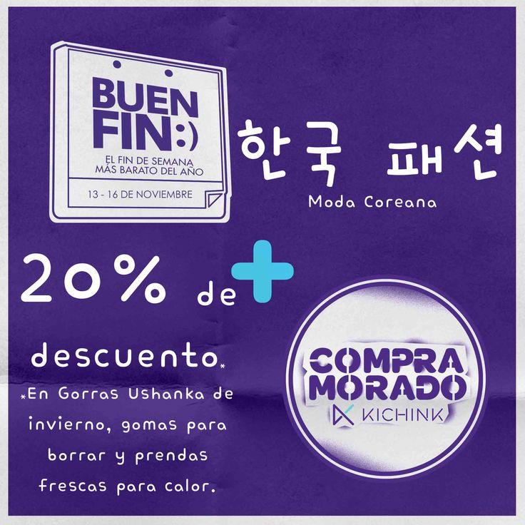 #Unnie #Oppa tenemos para ustedes 20% de descuento en gorras ushanka de invierno, gomas para borrar y prendas frescas para calor! Obtén los descuentos en el enlace: http://www.kichink.com/stores/modacoreana/?kch_BF15CM_37120 Aprovecha ahora estas ofertas del BUEN FIN #CompraMorado y #BuenFin #ModaCoreana #Mexico