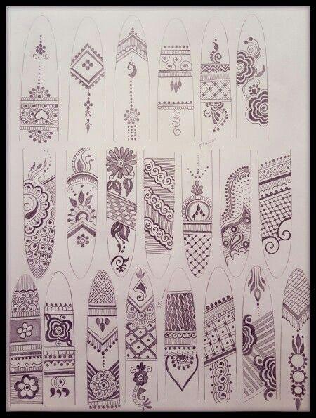 Finger Henna designs - Munira