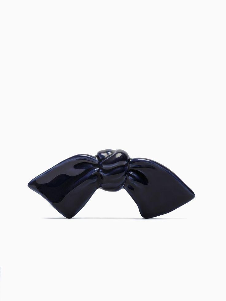 Cor Sine Labe Doli ceramic bow-tie in blue