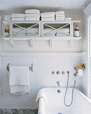 Towel Cabinet in the bathroom!