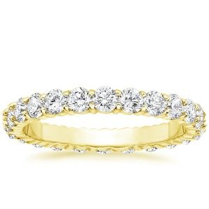 18K Yellow Gold Luxe Eternity Shared Prong Diamond Ring (1 1/2 ct. tw.), top view