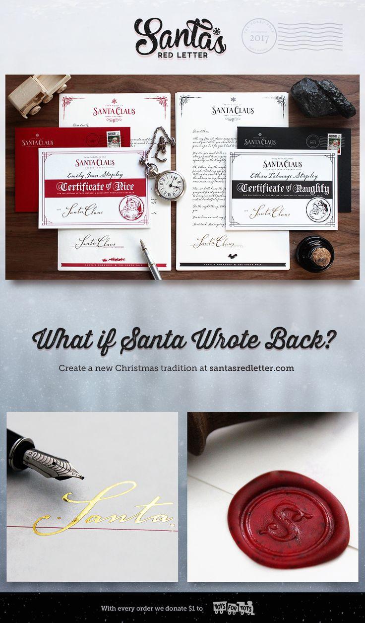 Best SantaS Red Letter Images On   Letter Letters