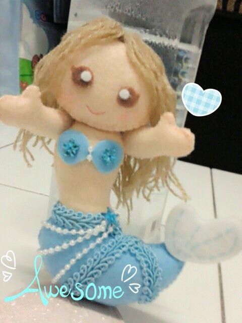 Felt Blue mermaid♥