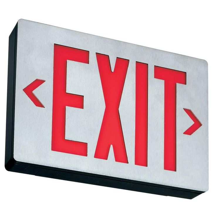 Lithonia Lighting Aluminum LED Emergency Exit Sign