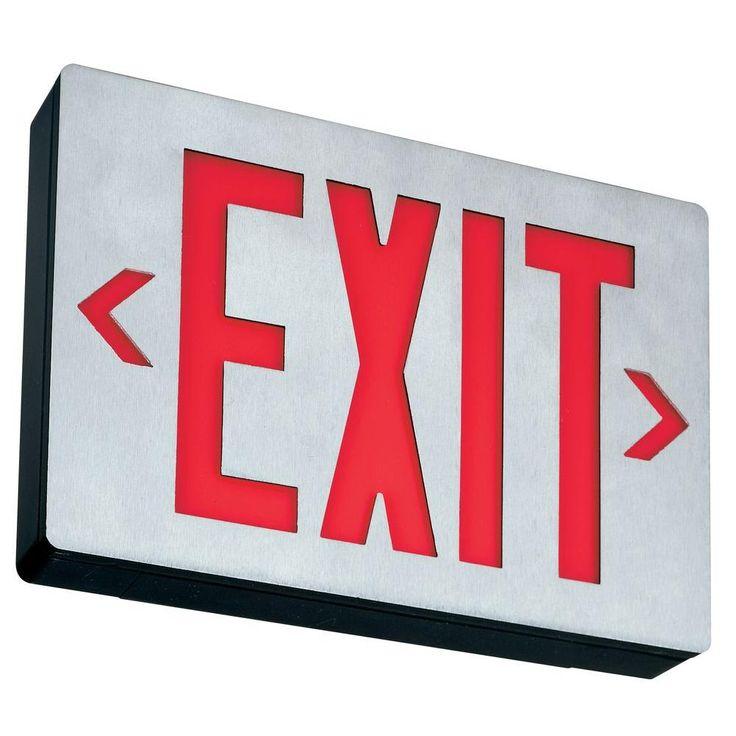 Lithonia Lighting Aluminum LED Emergency Exit Sign