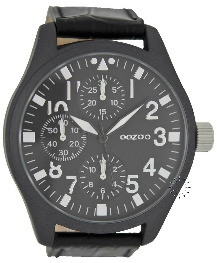 OOZOO XL Timepieces All Black Leather Strap Μοντέλο: C6449 Η τιμή μας: 65€ http://www.oroloi.gr/product_info.php?products_id=38576