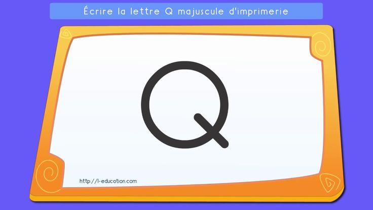 Un support intéressant sur Apprendre à écrire la lettre Q en capitale d'imprimerie