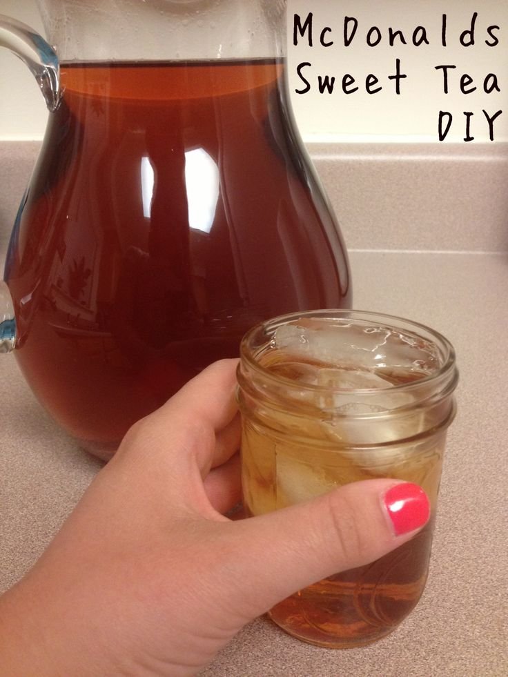 DIY McDonald's Sweet Tea! I'm pinning this b/c I've never heard of tea being made this way...I'm curious if it really tastes like their tea and how different it tastes from mine.