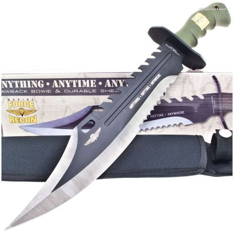 """United Cutlery UC2863 16.5"""" Anodized AUS-6 Stainless Steel Marine Force Recon Sawback Bowie $49.99  – Everlasting Essentials"""