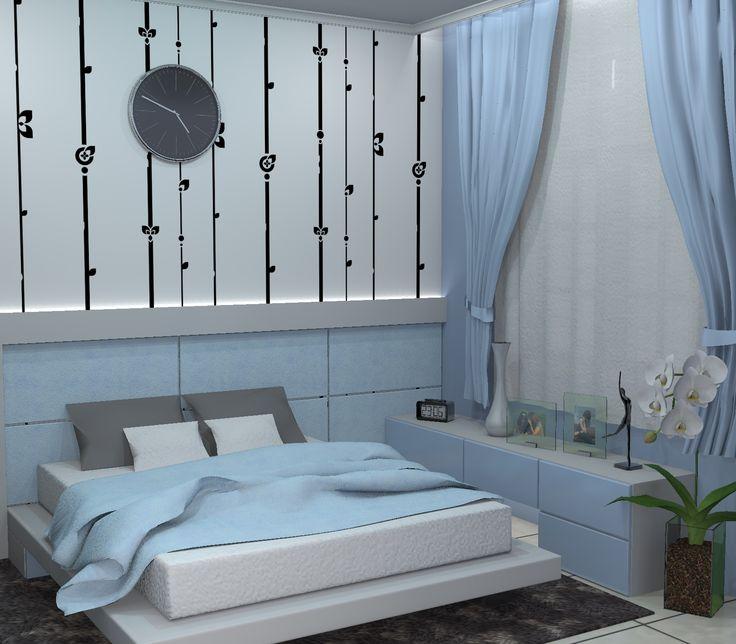 ruang tidur utama kediaman bpk Bambang, Bogor