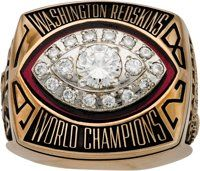 1982-83 Washington Redskins Super Bowl XVII Championship Ring Presented to William Shea