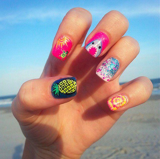 shark nail art ideas