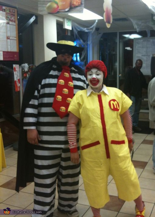 Ronald McDonald & Hamburglar Costumes - 2012 Halloween Costume Contest