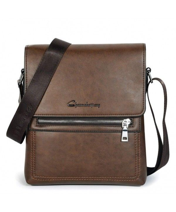 8fc498db14 Mens PU Leather Shoulder Bag Crossbody Purse Work Bag Business Bag ...