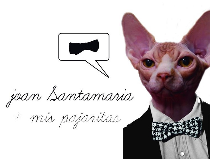 Bow tie for Joan Santamaría Perruquer.