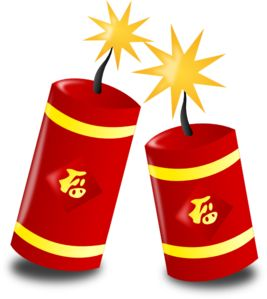 Chinese Fireworks clip art - vector clip art online, royalty free & public domain