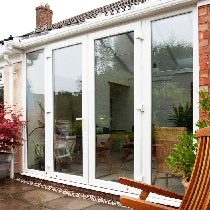 4ft uPVC French Doors with 2 Wide uPVC Side Panels | Flying Doors