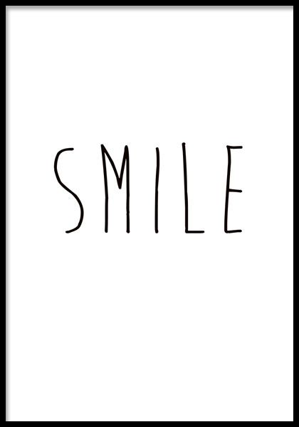 SMILE, posters i gruppen Posters och prints / Storlekar / 21x30cm hos Desenio AB (7642, posters)