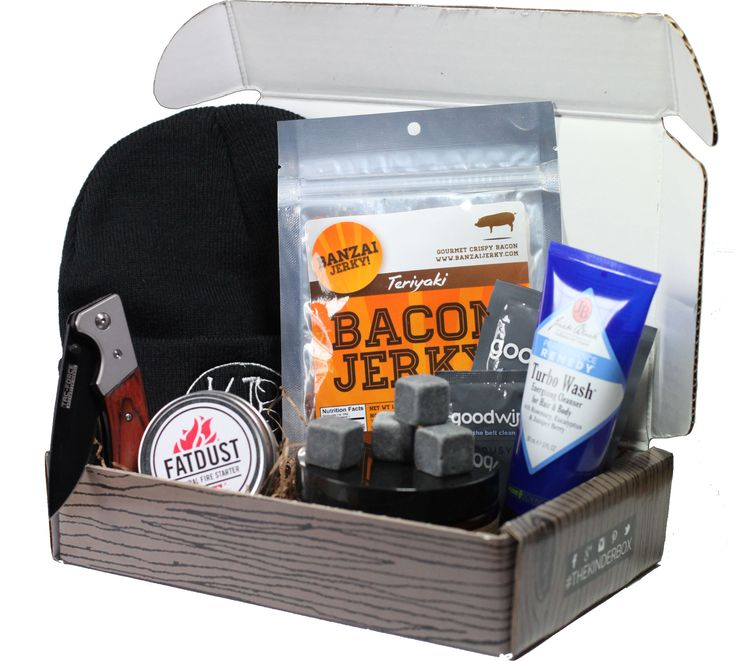 The KinderBox is a monthly subscription box for men. Everything from beef jerky, to knives, grooming products and other cool stuff, delivered right to your front door every month!