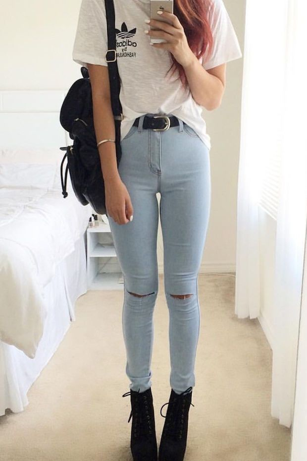 Daily Dose Slit Pants Jeans