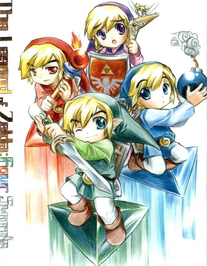 Four swords links by imananimedrawer videogames for Pinterest obras de arte