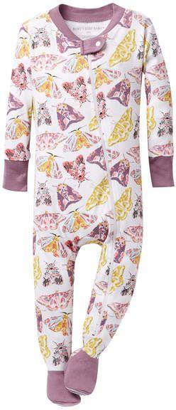 503bc9c95c13 Organic Cotton Desert Flutterbug Zip Sleeper Footie (Baby Girls ...