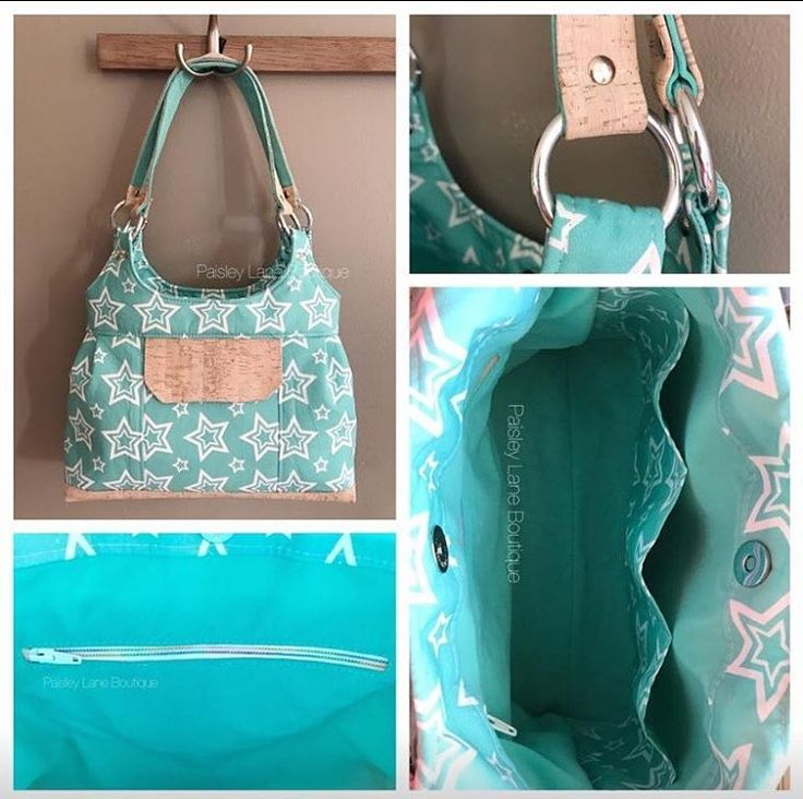 "85 Likes, 3 Comments - Blue Calla Patterns (@bluecallapatterns) on Instagram: ""This sweet Iris bag was done by @paisleylaneboutique1 and I really love the soft Aqua fabric she…"""