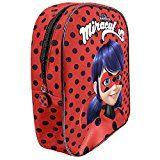 Perletti - Prodigiosa: Las aventuras de Ladybug - Pequeña mochila de niña para jardín de infancia - 30 x 24 x 10 cm