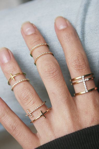 Esteban Cross Knuckle Ring Wrap Gold Christmas Gifts from kellinsilver.com #christmas