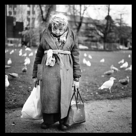 by Claire Martin  -Rose has lived in the Downtown East Side for over 20 years. She lives in a half way home and feeds the birds everyday at 2pm. She told me they are her only friends.