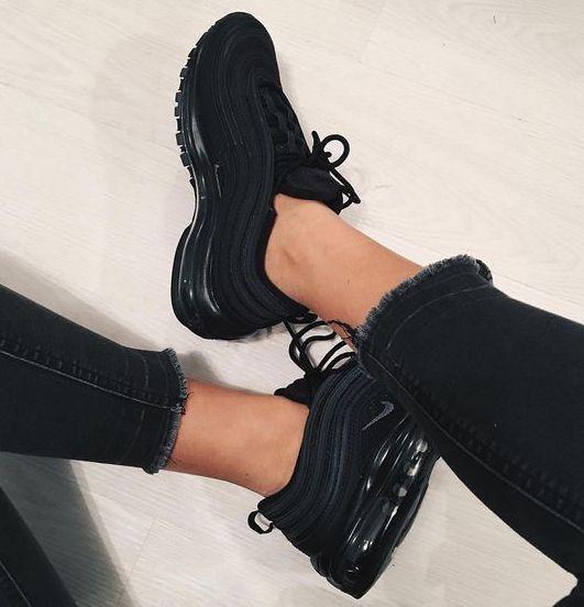 Tendance Sneakers 2018 : 2018 Air Max 97 Femme Noir/Noir Gris foncé