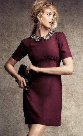 ladylike dress in oxblood