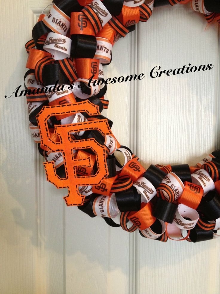 San Francisco Giants Baseball Ribbon Wreath by AmandasCreations11, $40.00