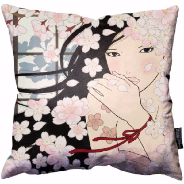 England At Home Limited Edition Art Cushion – Country Of Cherry... (€47) ❤ liked on Polyvore featuring home, home decor, throw pillows, country style throw pillows, country style home decor, country home decor, country themed home decor and cherry blossom throw pillow