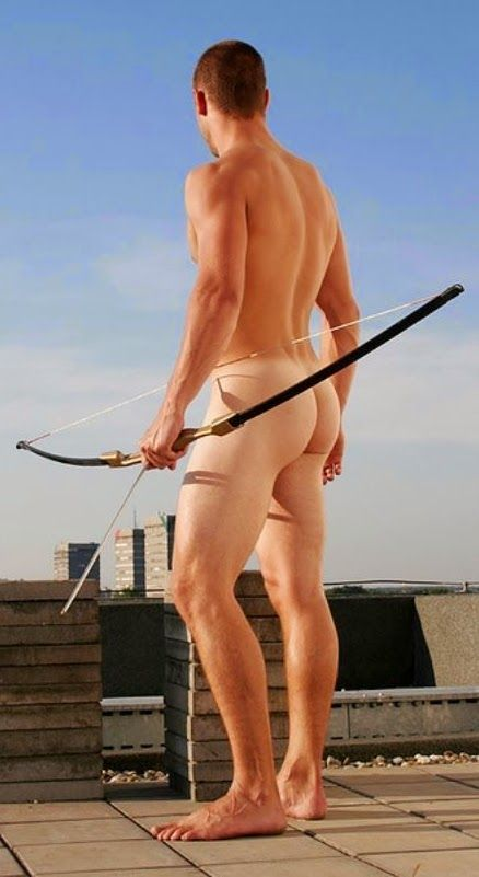 If this is Cupid, he can shoot me anytime.