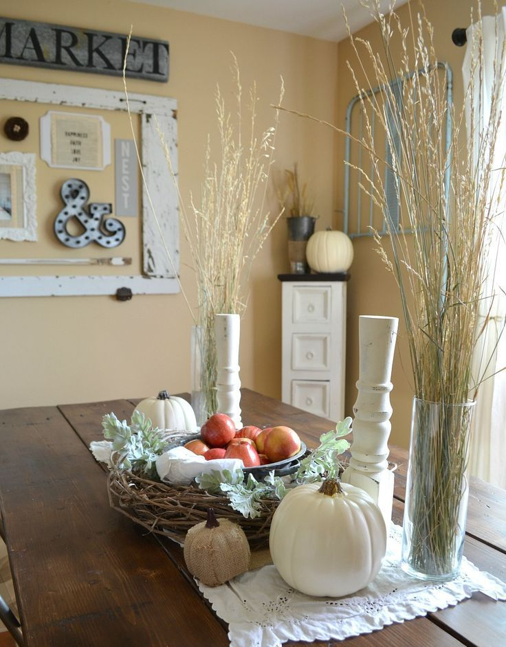 Simple Farmhouse Fall Centerpiece Rustichomedecor