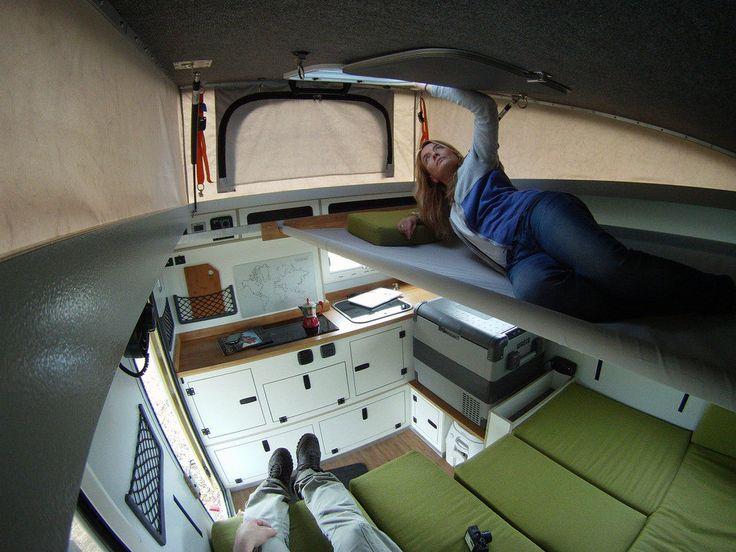 DIY goedkoop camper bed voor onder loft hefdak popupdak