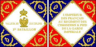 1er Battalion, Regiment des Chasseurs à Pied of the Imperial Guard, Model of 1806-11 • Like the Grenadiers, the Foot Chasseurs of of the Imperial Guard were initially embodied in a single regiment of two battalions, each of which received an Eagle and color.