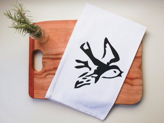 Bird Tea Towel via #Etsy #Bird #Tea #Towel