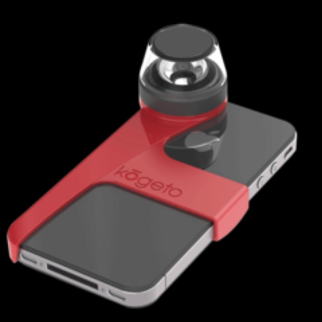 Create 360 degree panorama video from your iPhone with the Dot.   http://kogeto.com/dot.php