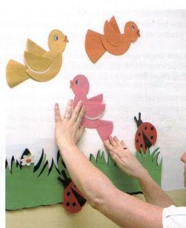 vogels maken met kleuters