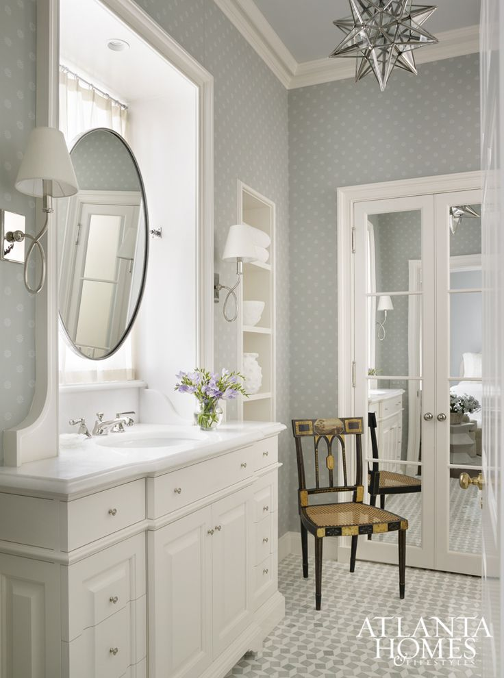 276 Best Images About Wallpapered Bathroom On Pinterest