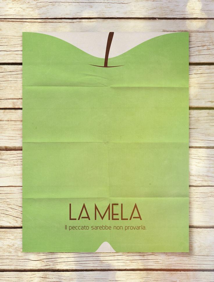 Alberto Marchetti's Ice Cream Flavors Minimal Poster | La Mela {The Apple}