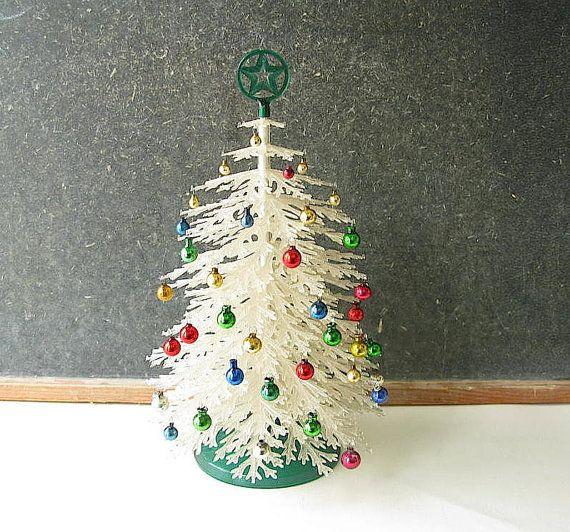 Vintage plastic christmas tree plasco tabletop small
